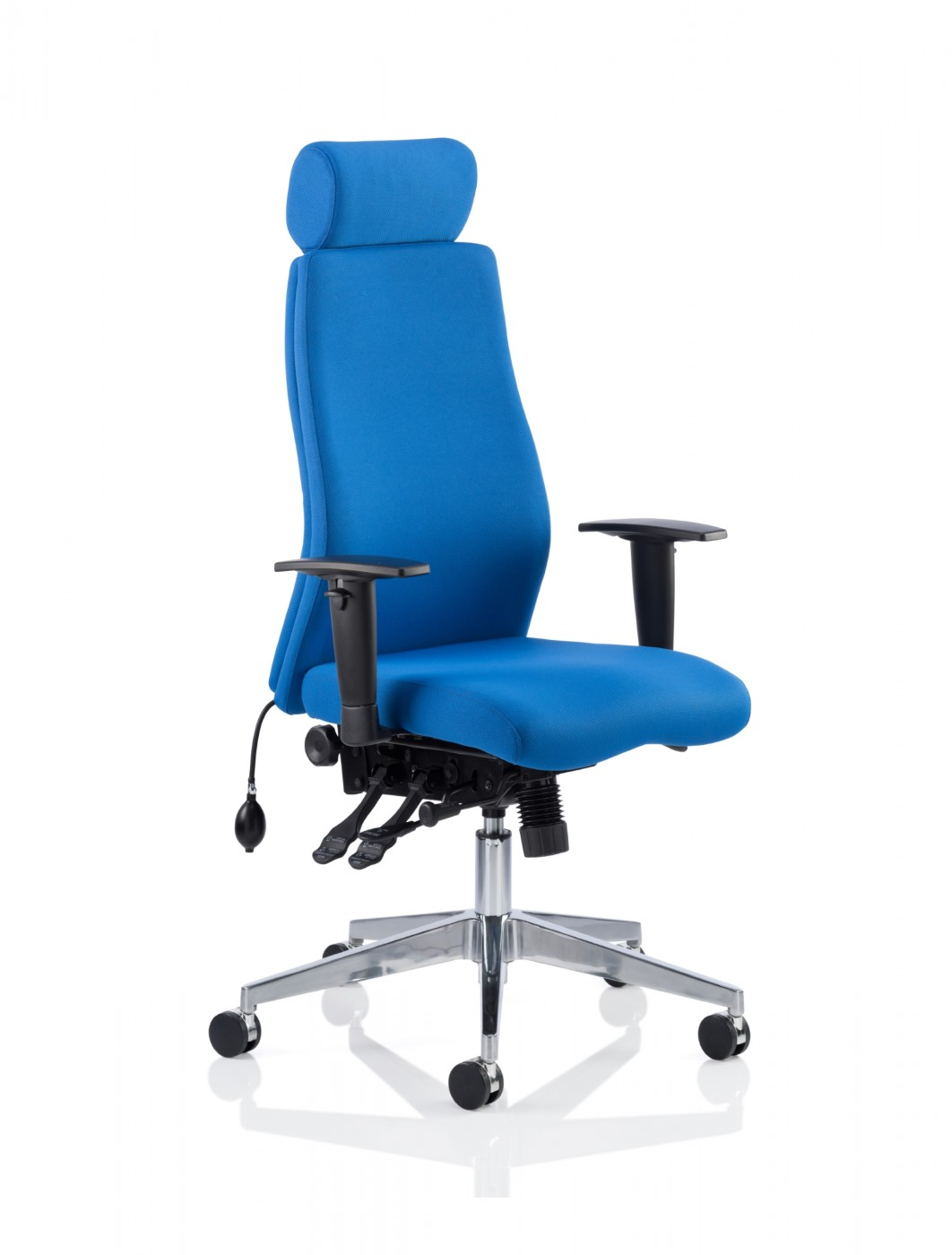 Dynamic Onyx Fabric Office Chair With Headrest Op000096
